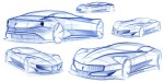 Pininfarina-Cambiano-Disegni-Sketch