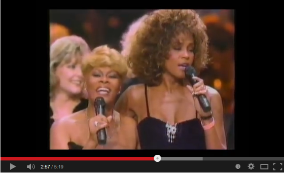 Whitney Houston and Dionne Warwick live